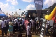 Kampalans meet and greet Kayoola Solar Bus at Buganda fair