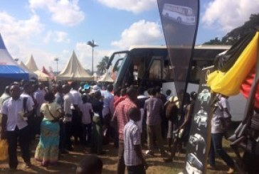 Kampalans meet and greet Kayoola Solar Bus at Buganda fair