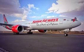 An example of a Kenya Airways B777