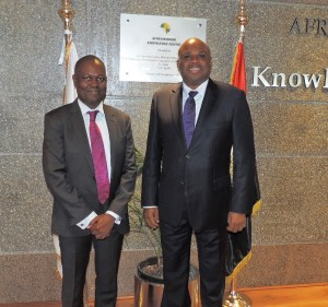 Afreximbank President Dr. Benedict Oramah (left) withEcobank Group CEO Ade Ayeyemi.